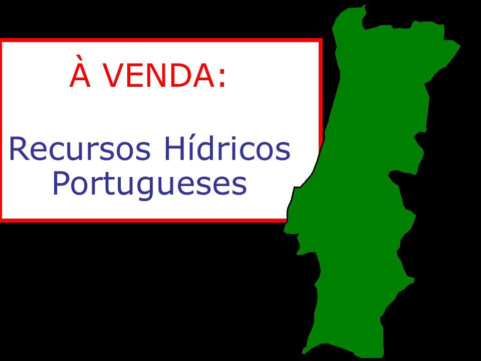 À VENDA: Recursos Hídricos Portugueses
