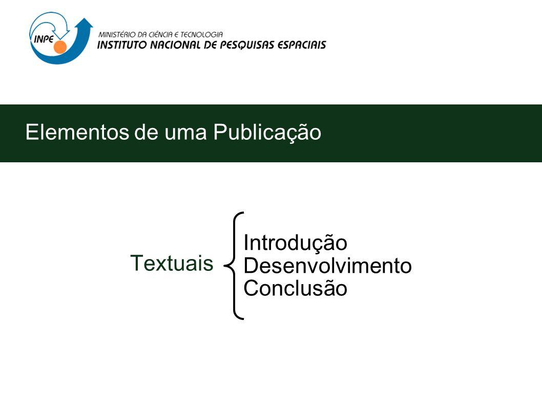Elementos de uma Publicação