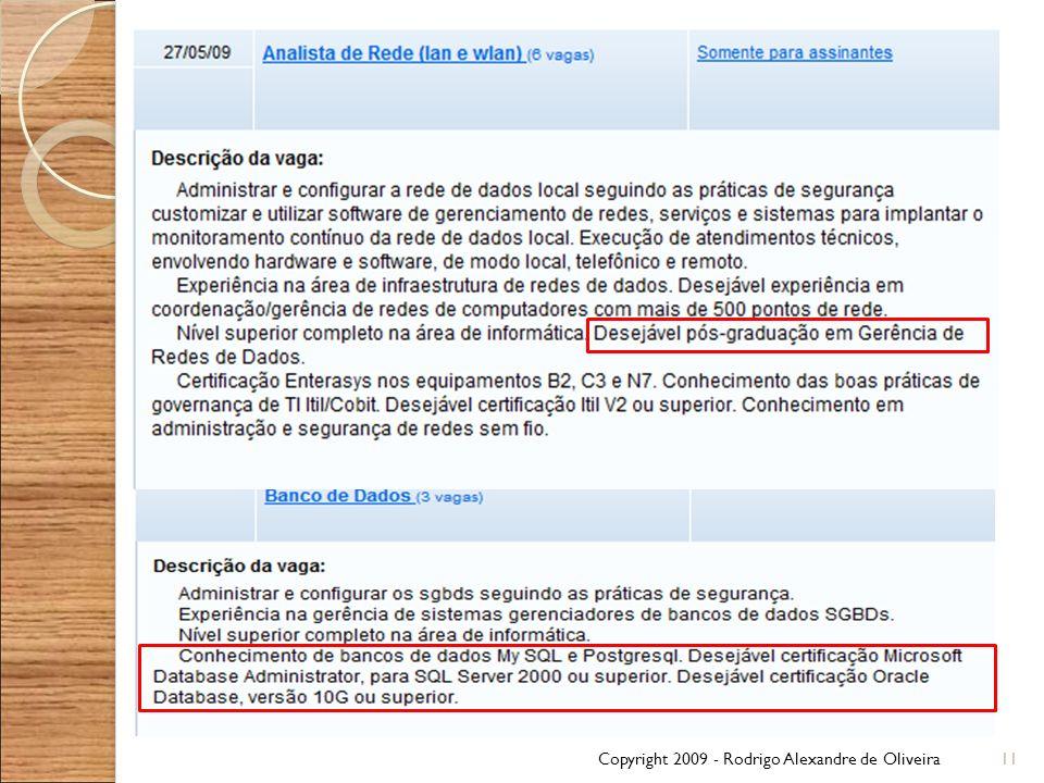 Copyright 2009 - Rodrigo Alexandre de Oliveira11