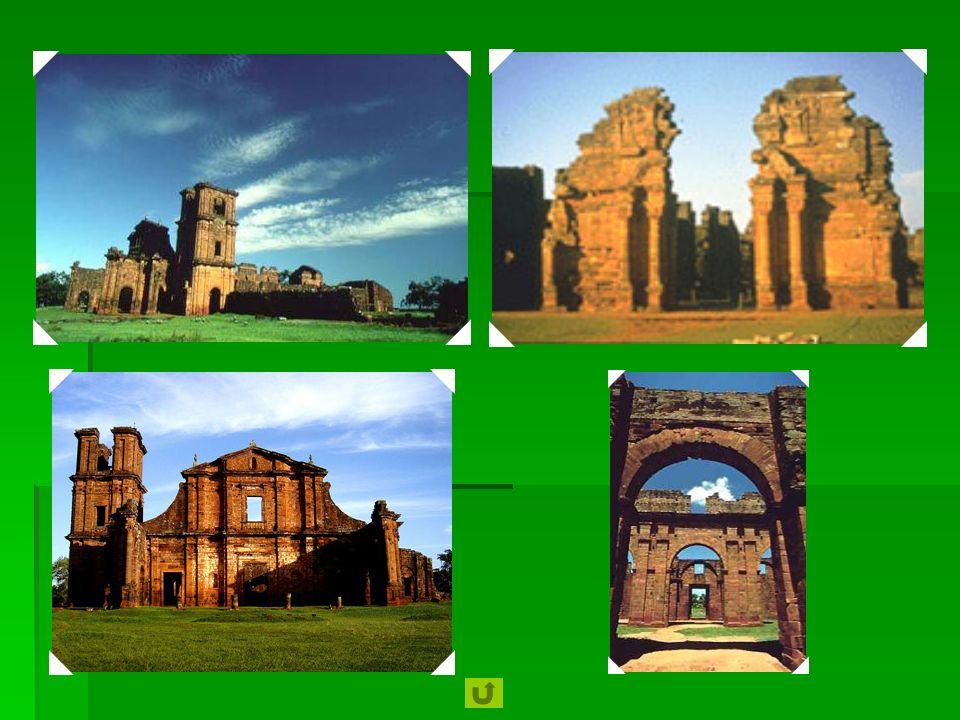 1984 Missões Jesuíticas dos Guarani - Localizadas no coração de uma floresta tropical, as ruínas de São Miguel das Missões e as de San Ignacio Mini, S