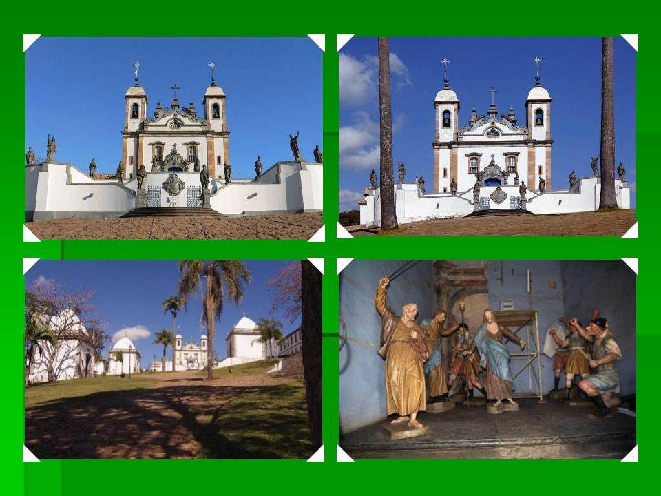 1985 Santuário de Bom Jesus de Congonhas – Construído na Segunda metade do século XVIII, o santuário consiste em uma igreja com um suntuoso rococó int