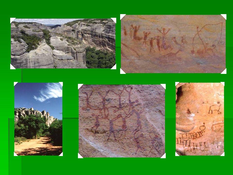 1991 Parque Nacional da Serra do Capivara – Os numerosos abrigos de rochas do Parque Nacional da Serra do Capivara são decorados com pinturas de caver