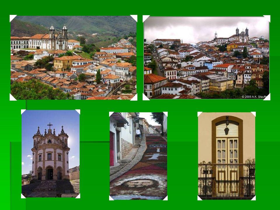 1980 Cidade histórica de Ouro Preto - Fundada no final do século XVII, Ouro Preto era o principal ponto na corrida pelo ouro e Época do Ouro do Brasil