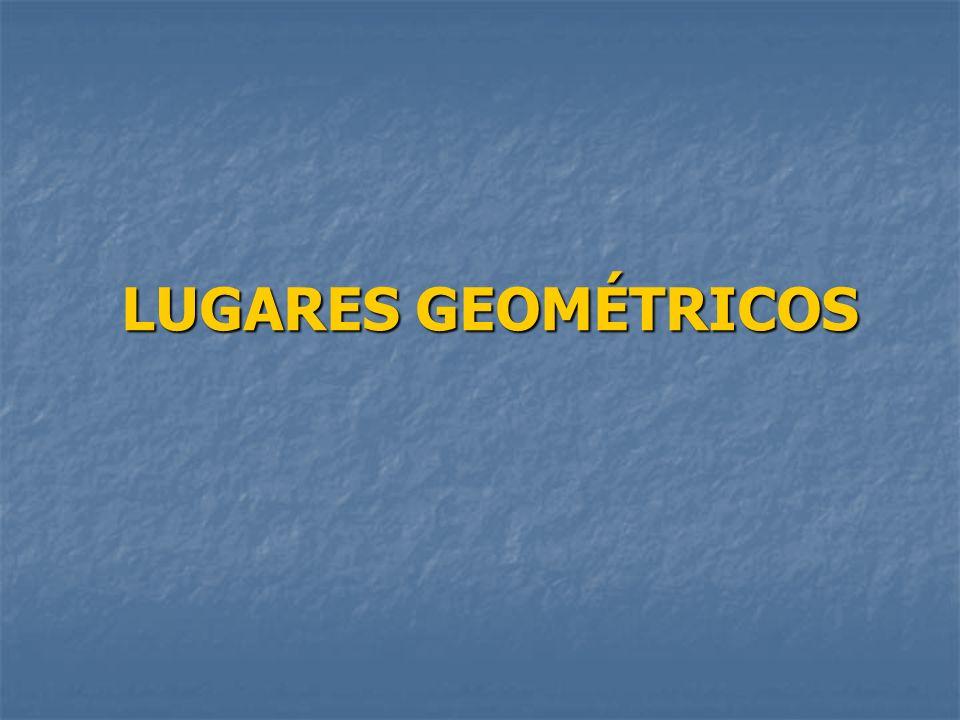 O objectivo desta apresentação é o estudo mais aprofundado de alguns lugares geométricos de que já ouviste falar.