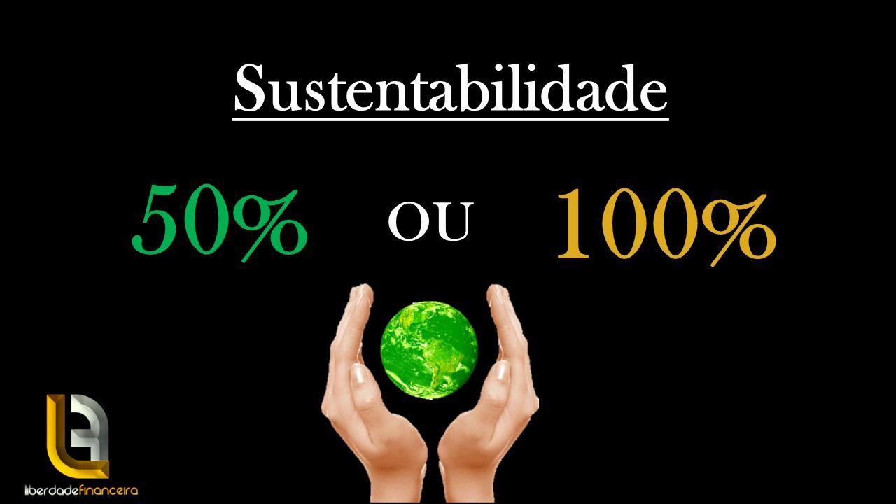 Sustentabilidade 50% 100% OU