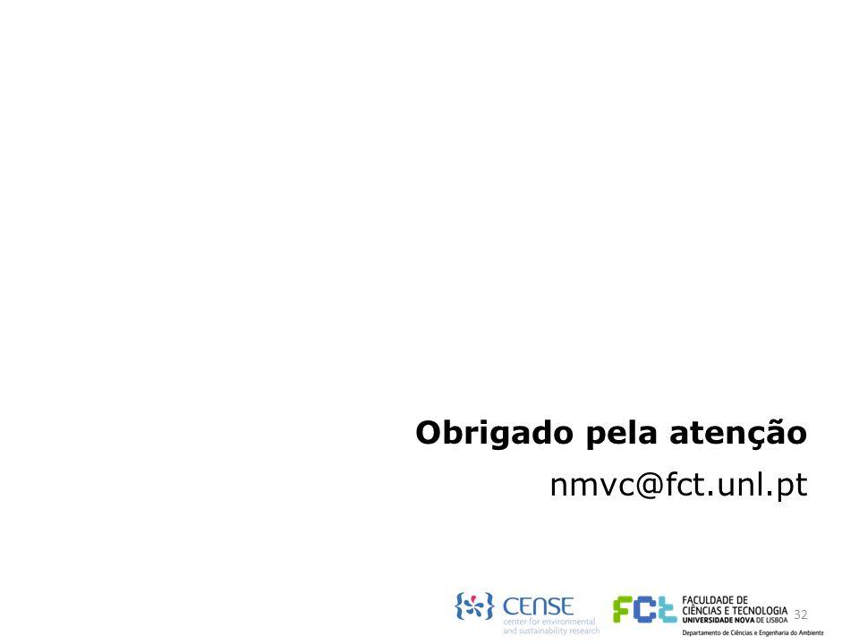 Obrigado pela atenção nmvc@fct.unl.pt 32