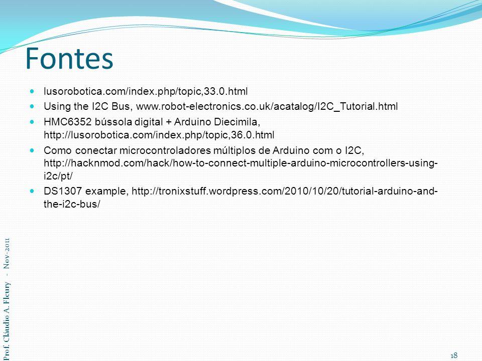 Fontes lusorobotica.com/index.php/topic,33.0.html Using the I2C Bus, www.robot-electronics.co.uk/acatalog/I2C_Tutorial.html HMC6352 bússola digital +