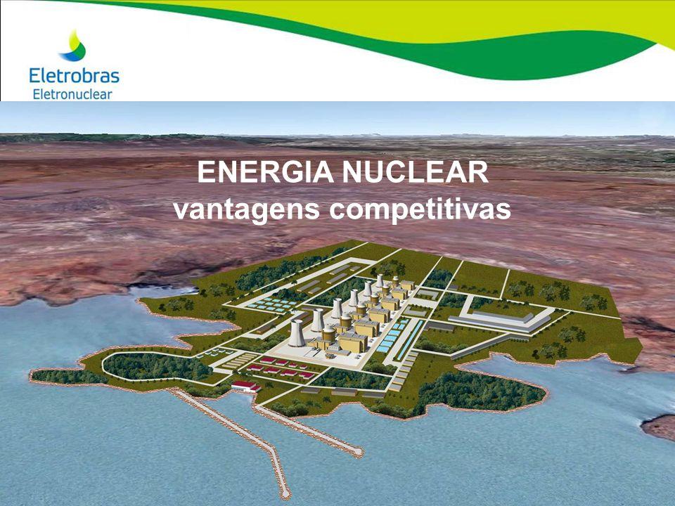 MATRIZ ELÉTRICA MUNDIAL PÓS FUKUSHIMA Os motivos para a opção nuclear no mundo Os motivos para a opção nuclear no mundo permanecem os mesmos de antes de Fukushima: 1) ENERGIA DE BASE (contínua e estável por longos períodos) EM GRANDE QUANTIDADE (Angra 2 ~ 1,8 milhões de HP) 2) BAIXO CUSTO DE PRODUÇÃO (inferior aos concorrentes) 3) BAIXO IMPACTO AMBIENTAL 4) NÃO EMITE GCES, ESTANDO ISENTA DE (futuras) TAXAS DE EMISSÃO DE CO2