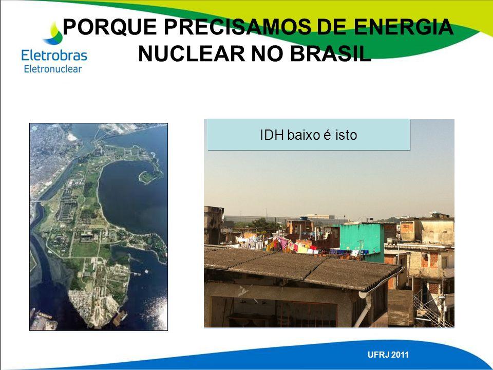 PORQUE PRECISAMOS DE ENERGIA NUCLEAR NO BRASIL UFRJ 2011 IDH baixo é isto