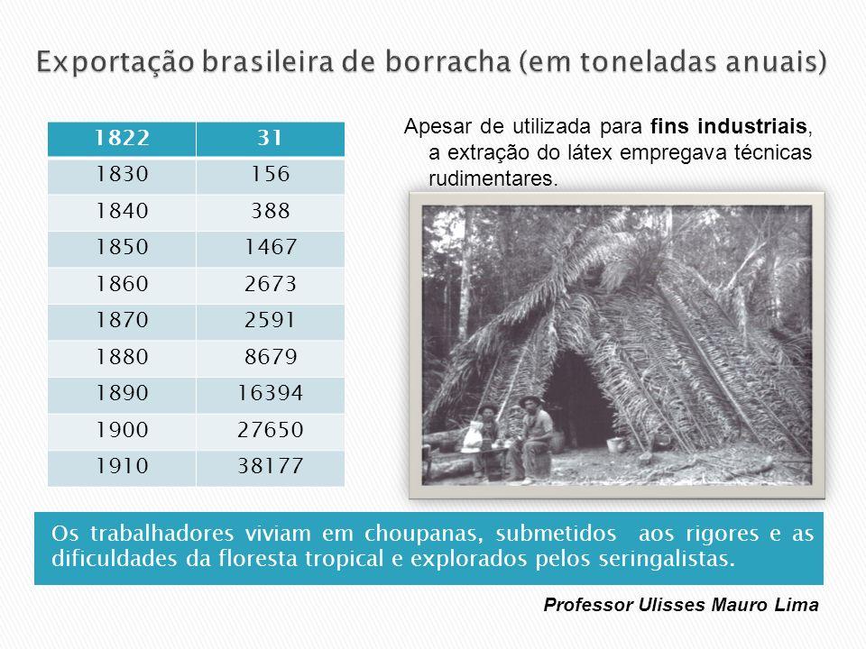 Os trabalhadores viviam em choupanas, submetidos aos rigores e as dificuldades da floresta tropical e explorados pelos seringalistas. Apesar de utiliz