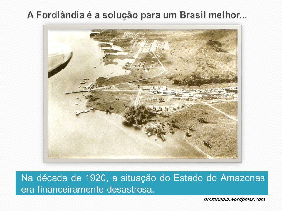 Na década de 1920, a situação do Estado do Amazonas era financeiramente desastrosa. historiaula.wordpress.com