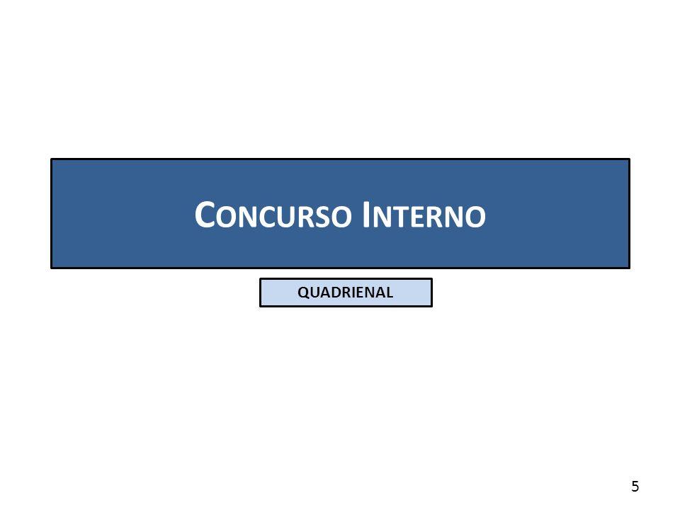 C ONCURSO I NTERNO QUADRIENAL 5