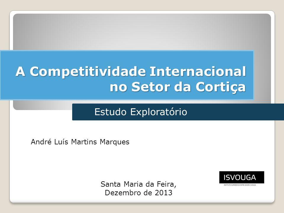 A Competitividade Internacional no Setor da Cortiça 1 André Luís Martins Marques Santa Maria da Feira, Dezembro de 2013 Estudo Exploratório