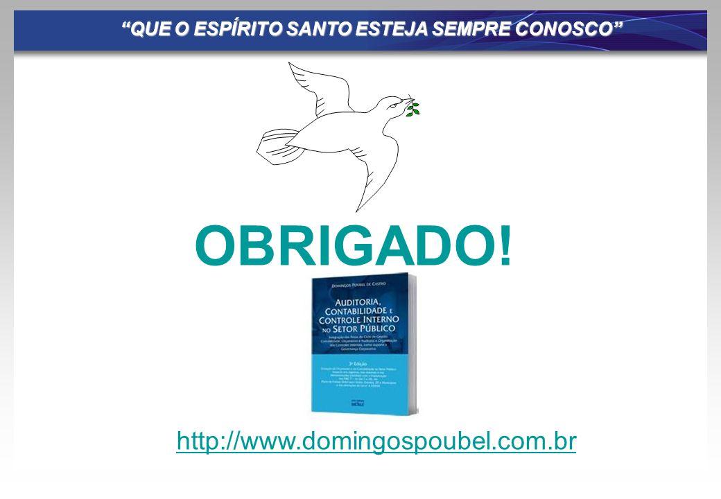 QUE O ESPÍRITO SANTO ESTEJA SEMPRE CONOSCO OBRIGADO! http://www.domingospoubel.com.br