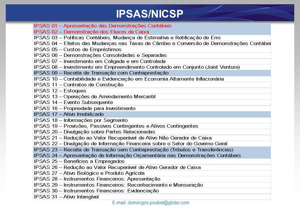 IPSAS/NICSP E-mail: domingos.poubel@globo.com