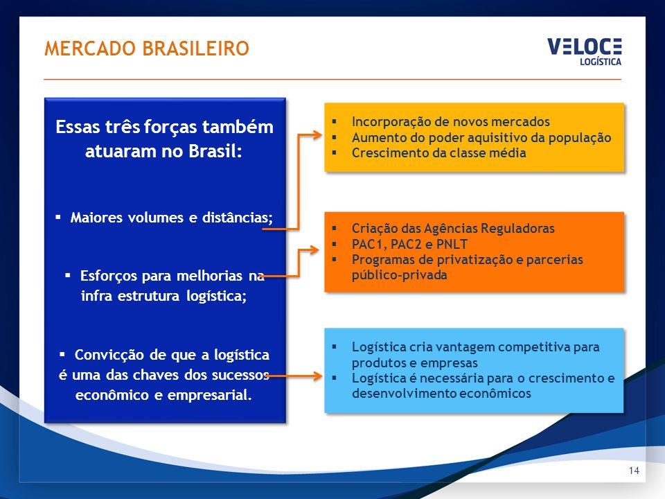 14 MERCADO BRASILEIRO Incorporação de novos mercados Aumento do poder aquisitivo da população Crescimento da classe média Incorporação de novos mercad
