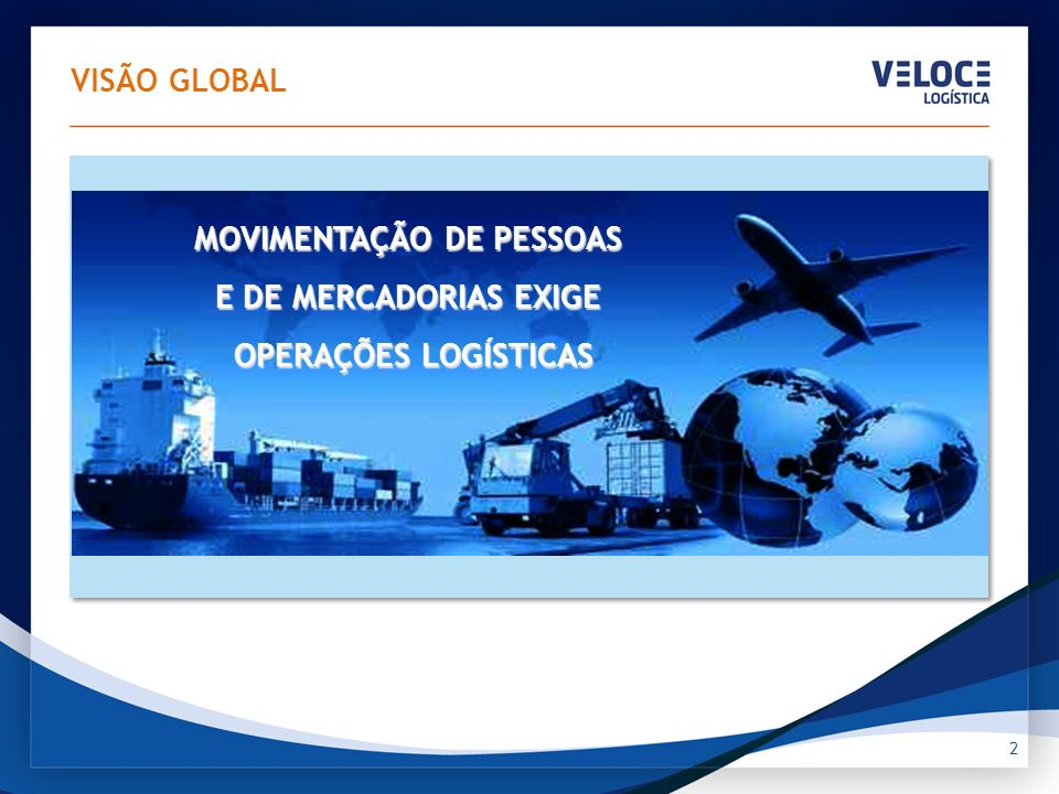 3 Impulsiona investimentos para aumentar e melhorar a infra estrutura logística Impulsiona investimentos para aumentar e melhorar a infra estrutura logística VISÃO GLOBAL Que, por sua vez