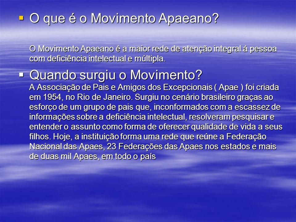 O que é o Movimento Apaeano.O que é o Movimento Apaeano.