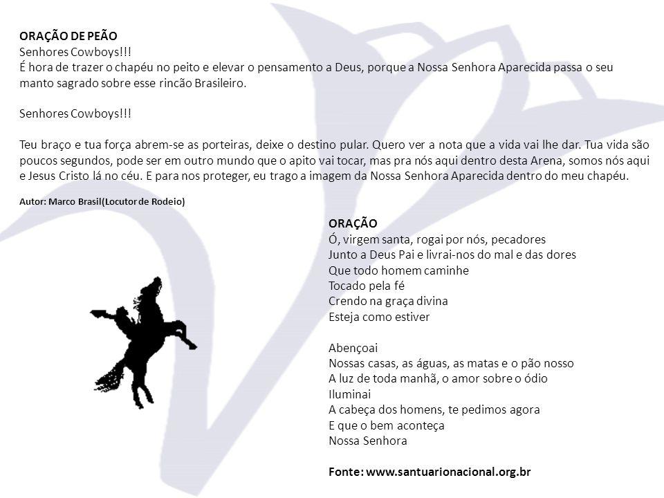 ORAÇÃO DE PEÃO Senhores Cowboys!!.