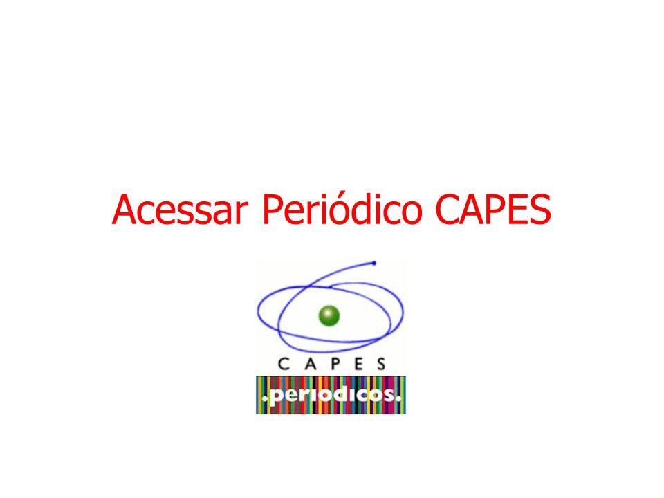Acessar Periódico CAPES