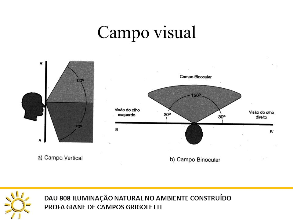 Campo visual DAU 808 ILUMINAÇÃO NATURAL NO AMBIENTE CONSTRUÍDO PROFA GIANE DE CAMPOS GRIGOLETTI