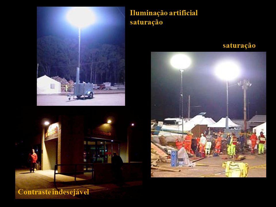 Iluminação artificial saturação Contraste indesejável saturação