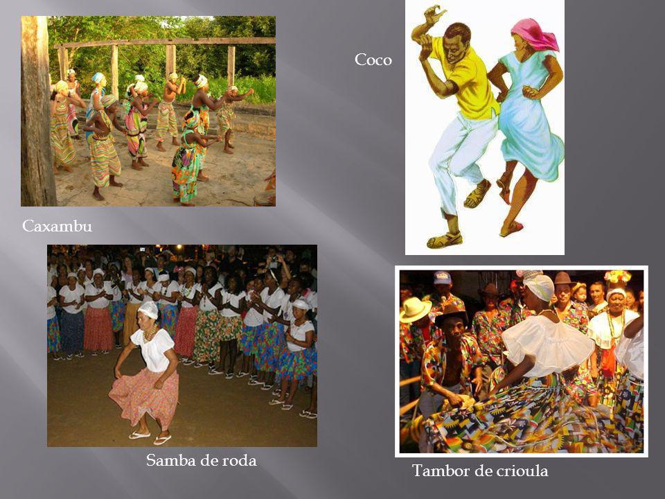 Caxambu Coco Samba de roda Tambor de crioula