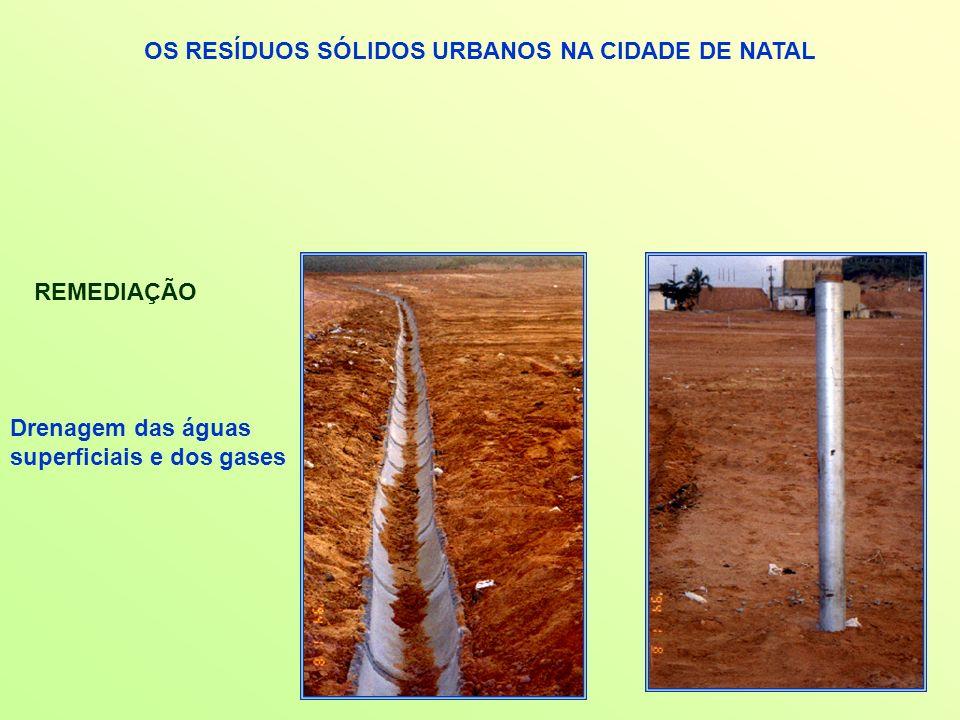OS RESÍDUOS SÓLIDOS URBANOS NA CIDADE DE NATAL REMEDIAÇÃO Drenagem das águas superficiais e dos gases