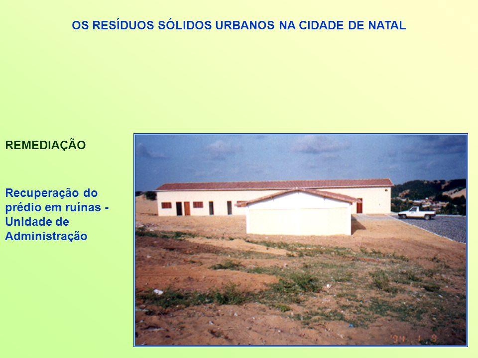 OS RESÍDUOS SÓLIDOS URBANOS NA CIDADE DE NATAL REMEDIAÇÃO Recuperação do prédio em ruínas - Unidade de Administração