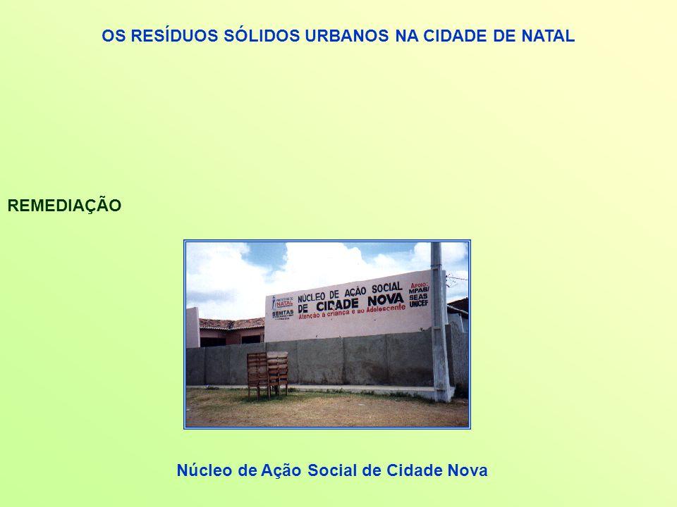 OS RESÍDUOS SÓLIDOS URBANOS NA CIDADE DE NATAL REMEDIAÇÃO Núcleo de Ação Social de Cidade Nova