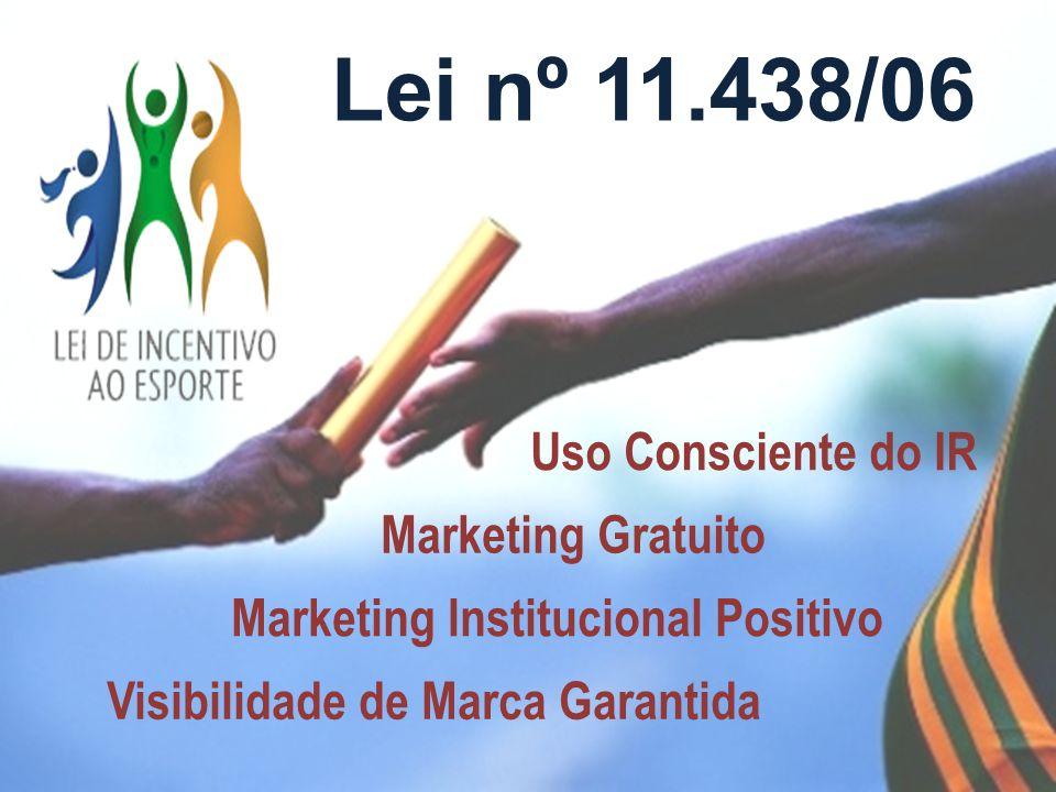Lei nº 11.438/06 Visibilidade de Marca Garantida Marketing Institucional Positivo Marketing Gratuito Uso Consciente do IR