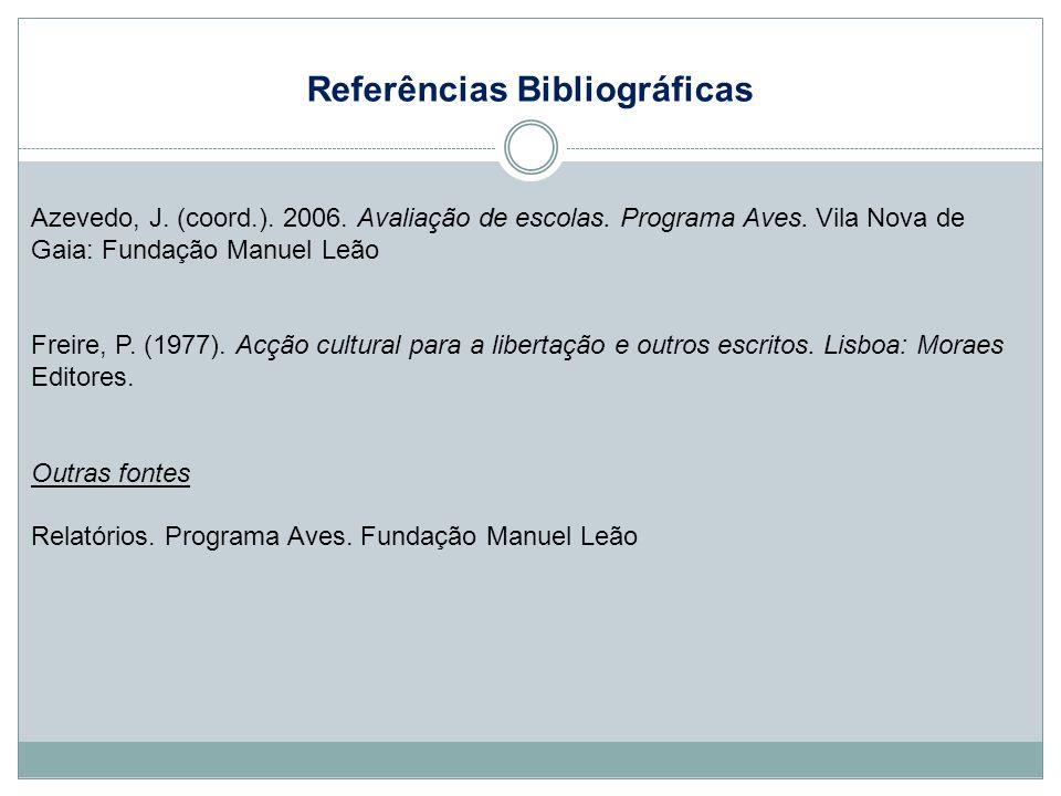 Referências Bibliográficas Azevedo, J.(coord.). 2006.