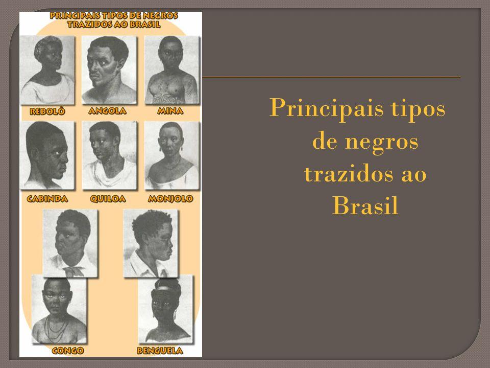 Principais tipos de negros trazidos ao Brasil