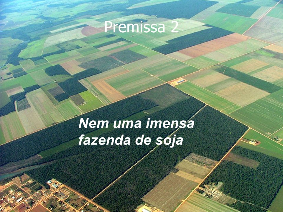 Premissa 2 Nem uma imensa fazenda de soja