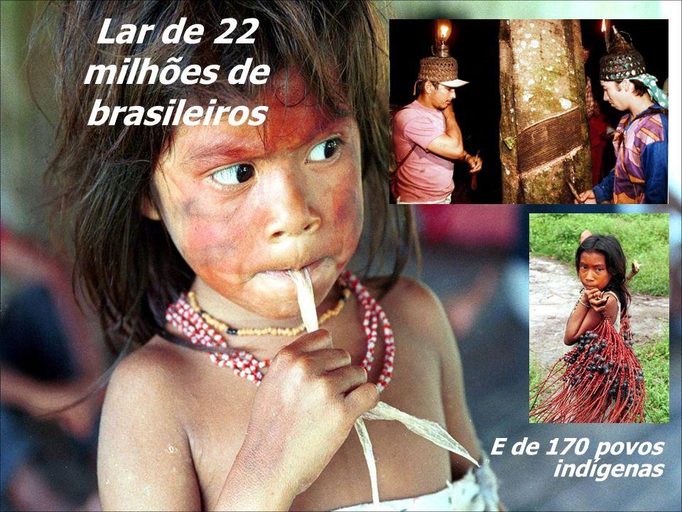 Lar de 22 milhões de brasileiros E de 170 povos indígenas