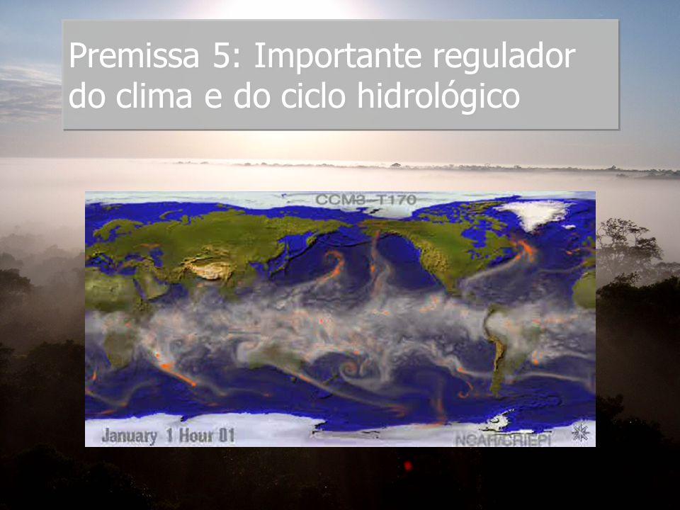 Premissa 5: Importante regulador do clima e do ciclo hidrológico