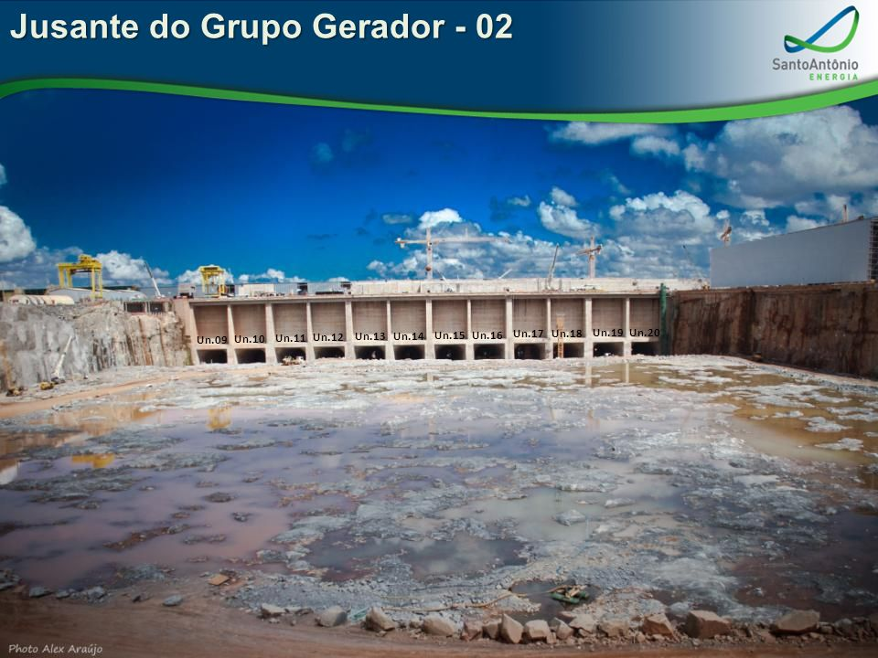 Jusante do Grupo Gerador - 02 Un.09 Un.10 Un.11 Un.12 Un.13 Un.14 Un.15 Un.16 Un.17 Un.18 Un.19 Un.20