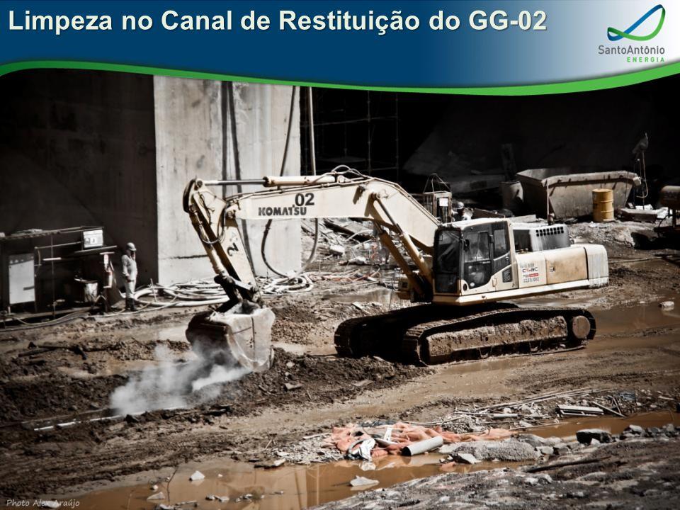 Limpeza no Canal de Restituição do GG-02