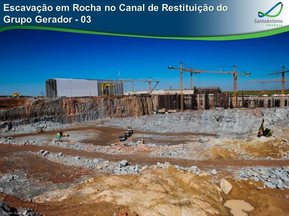 Escavação em Rocha no Canal de Restituição do Grupo Gerador - 03