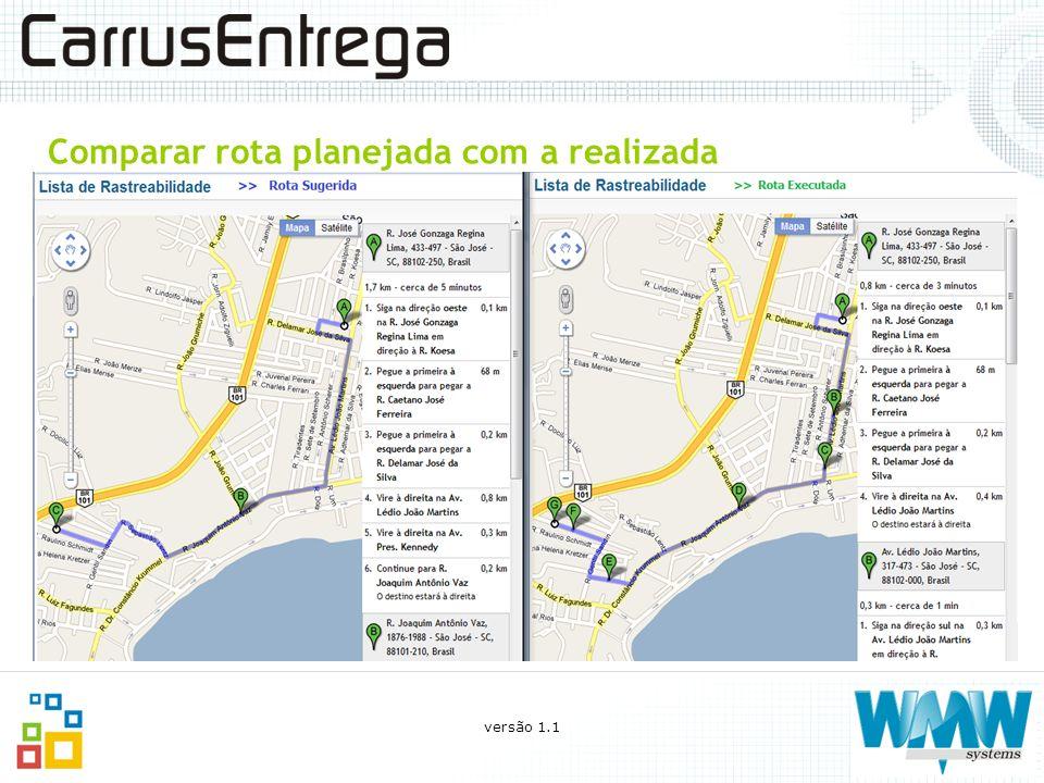 Comparar rota planejada com a realizada versão 1.1