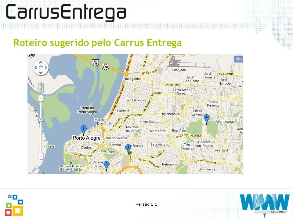 Roteiro sugerido pelo Carrus Entrega versão 1.1