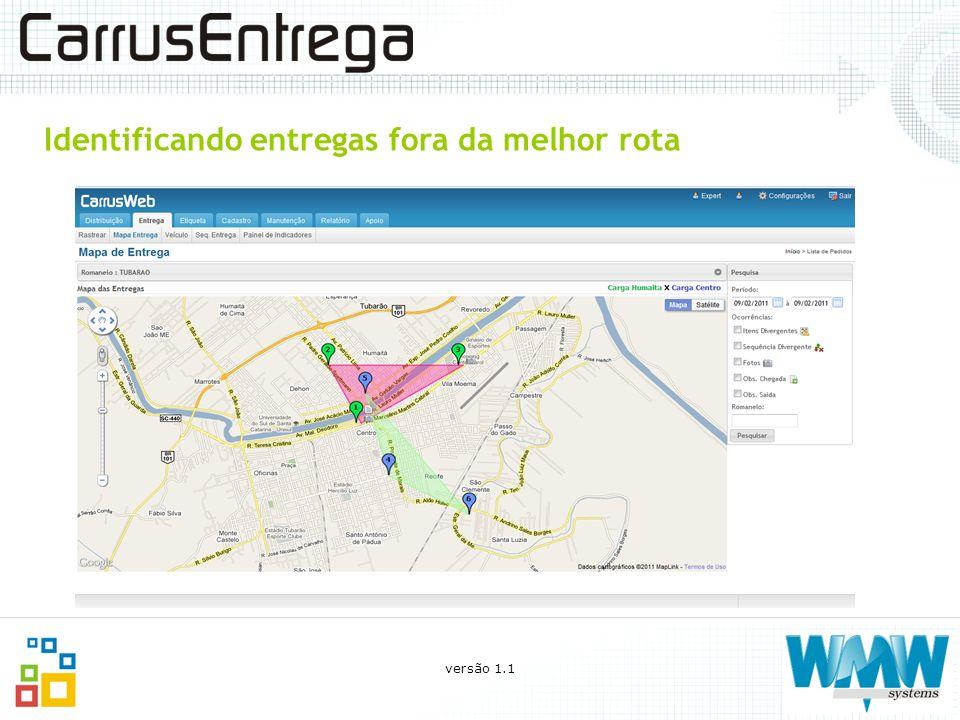 O que você pode fazer com o CarrusEntrega Acompanhamento on-line das entregas (painel geral dos caminhões e visualização no mapa das entregas); LOCALIZAÇÃO DA ENTREGA versão 1.1