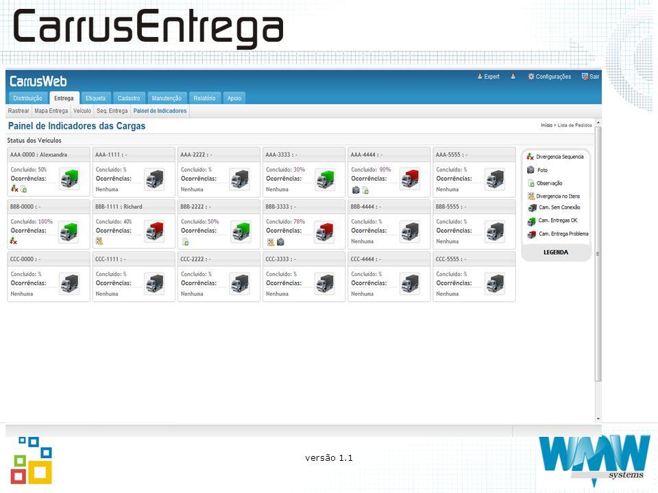 O que você pode fazer com o CarrusEntrega Conferir os pedidos que estão sendo descarregados através do código de barras; CONFERÊNCIA NA ENTREGA versão 1.1