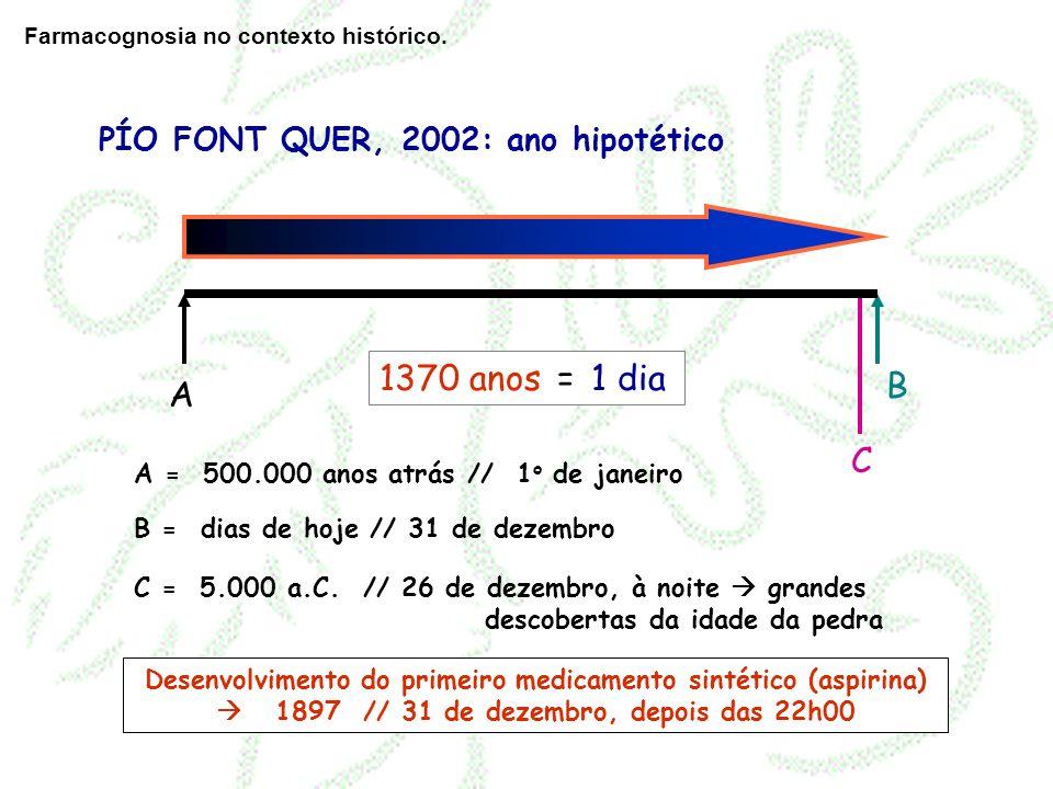 A = 500.000 anos atrás // 1 o de janeiro B = dias de hoje // 31 de dezembro A B C C = 5.000 a.C. // 26 de dezembro, à noite grandes descobertas da ida