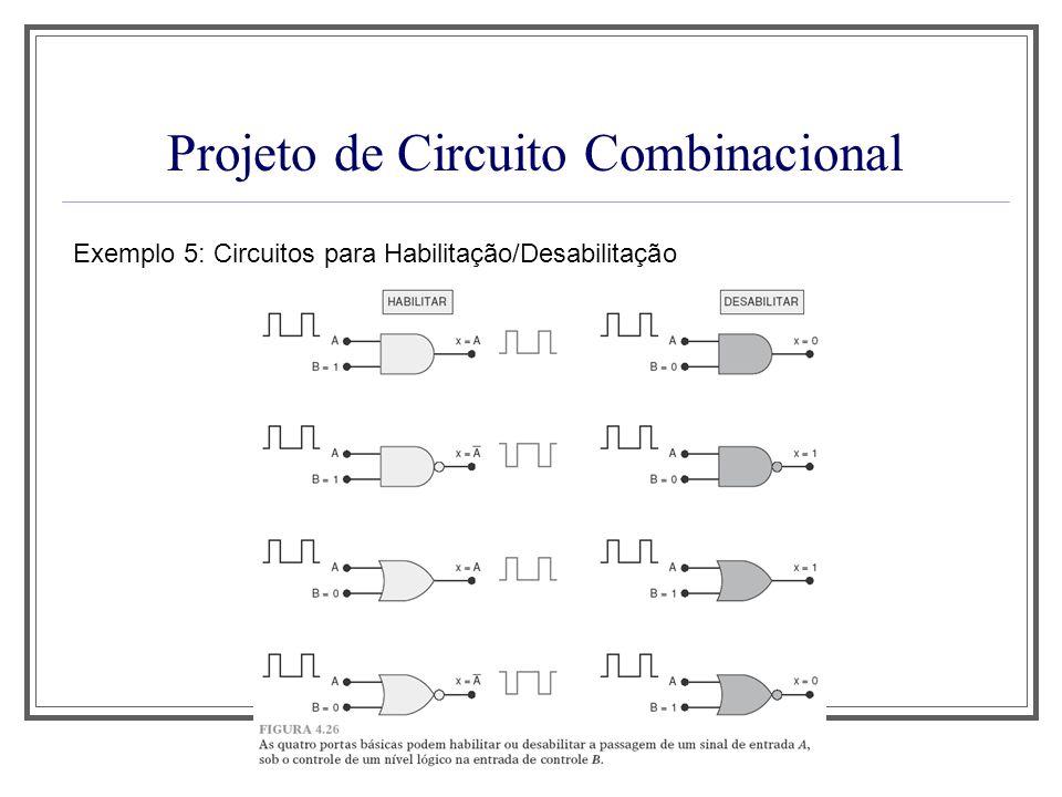 Projeto de Circuito Combinacional Exemplo 5: Circuitos para Habilitação/Desabilitação
