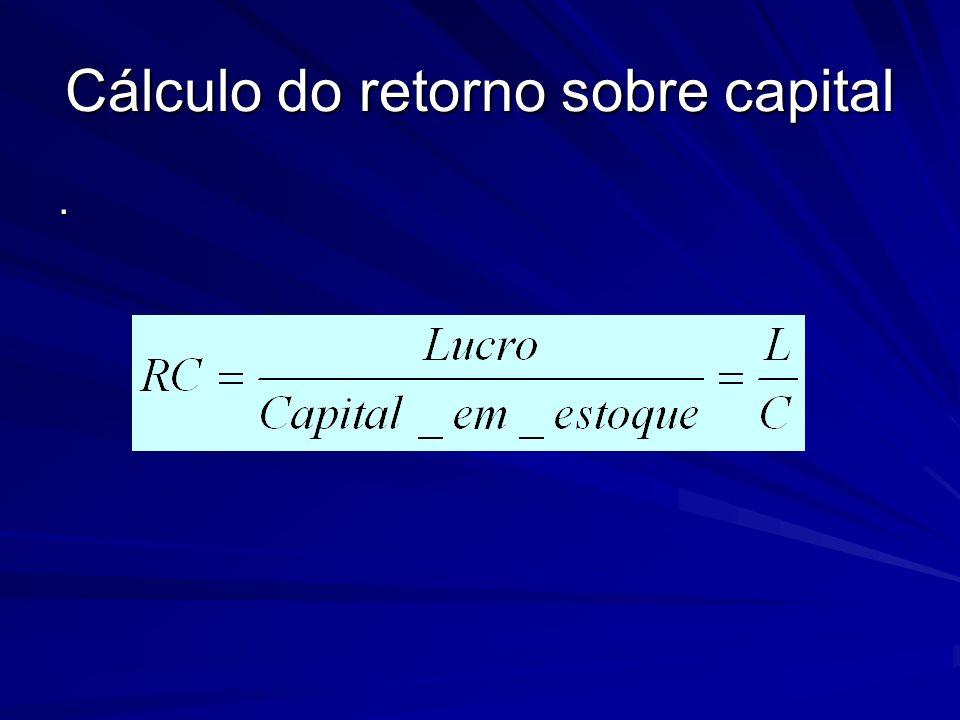 Cálculo do retorno sobre capital.