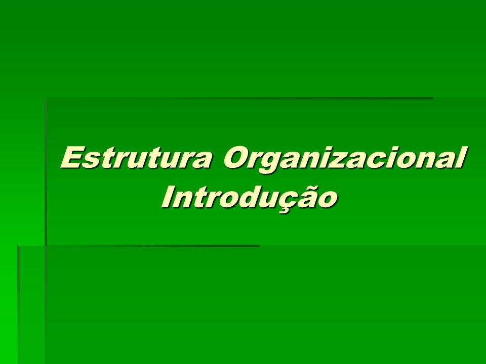 Estrutura Organizacional Introdução Estrutura Organizacional Introdução