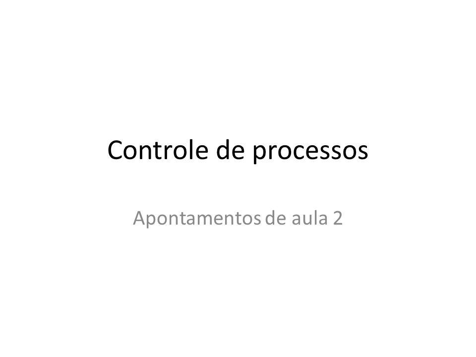Controle de processos Apontamentos de aula 2