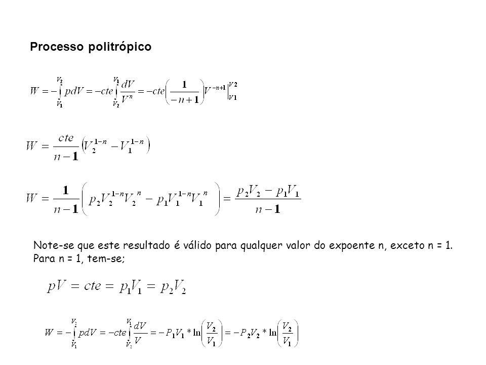 Note-se que este resultado é válido para qualquer valor do expoente n, exceto n = 1. Para n = 1, tem-se;