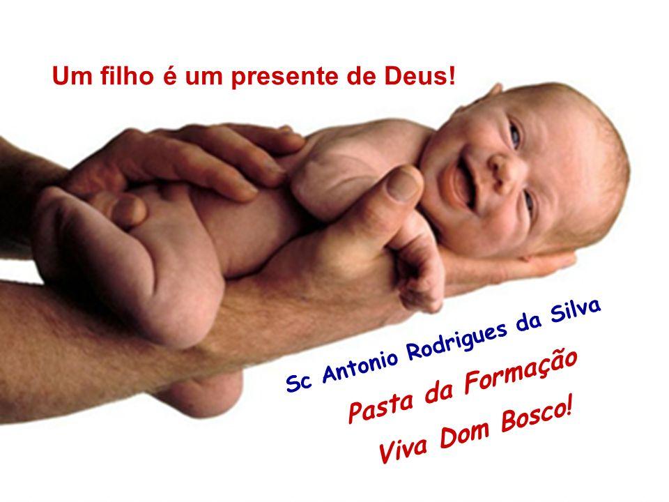 40 Sc Antonio Rodrigues da Silva Pasta da Formação Viva Dom Bosco! Um filho é um presente de Deus!